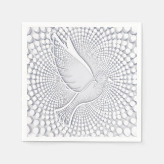 White Dove Standard Cocktail Paper Napkins