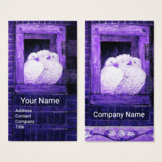 WHITE DOVES AT THE BLUE WINDOW BUSINESS CARD