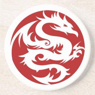 White Dragon Drink Coaster