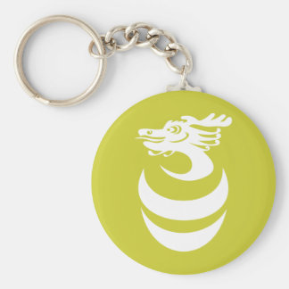 white Dragon in Egg Keychain
