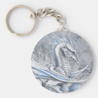 White Dragon Keychain
