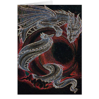 """White Dragon, Red Moon"" Card"