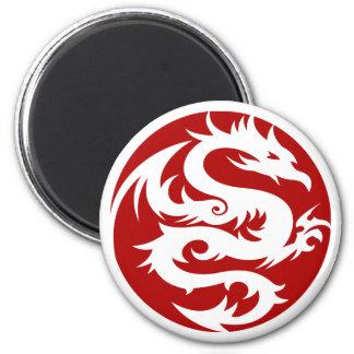 White Dragon Refrigerator Magnets