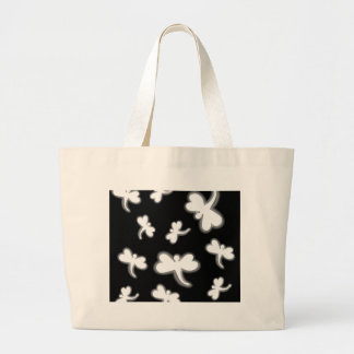 White dragonflies large tote bag