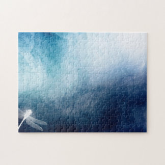 White Dragonfly Jigsaw Puzzle
