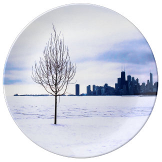 White dream - decorative porcelain plate