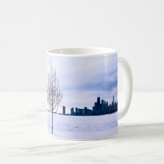 White dream - winter in Chicago, mugs