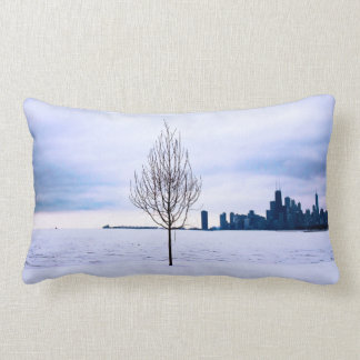 White dream - winter in Chicago, polyester pillows