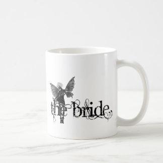 White Dress Fairy B&W Negative - The Bride Classic White Coffee Mug