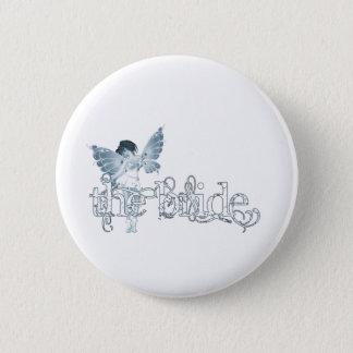 White Dress Fairy Blue - The Bride 2 Inch Round Button