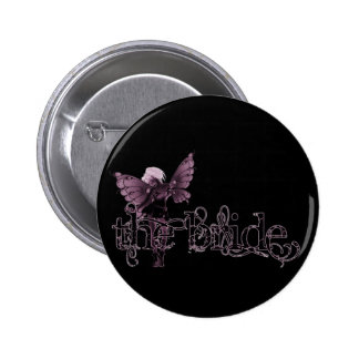 White Dress Fairy Pink Negative - The Bride Pin