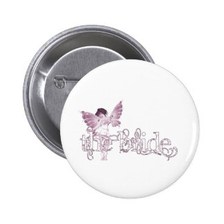 White Dress Fairy Pink - The Bride Buttons