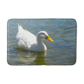 White Duck Bath Mat