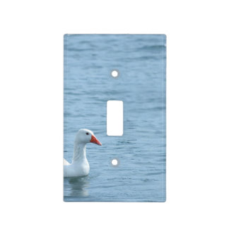 White Duck In The Blue Water Light Switch Cover