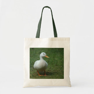 White Duck on White/Green Bag