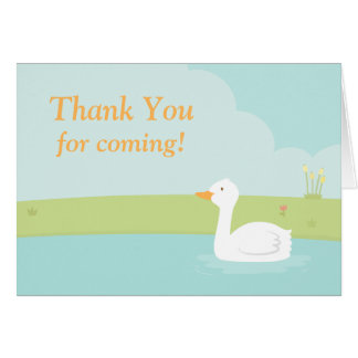 White Duck Party Thank You Note Card