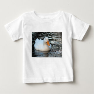 White Duck swimming in a creek Baby T-Shirt