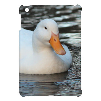 White Duck swimming in a creek Cover For The iPad Mini