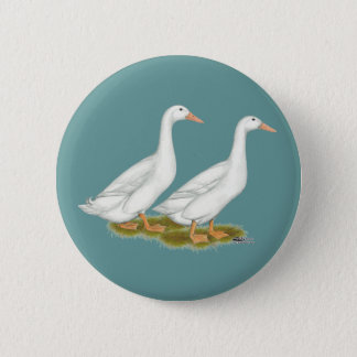 White Ducks 2 Inch Round Button