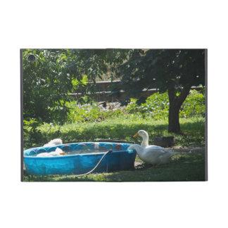 White Ducks and a Pool Cover For iPad Mini