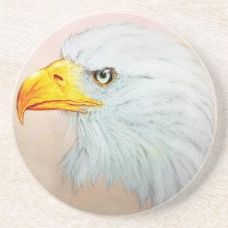 White Eagle SandStone Coaster, Bird Sketch Coaster