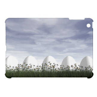 White easter eggs in nature - 3D render Case For The iPad Mini