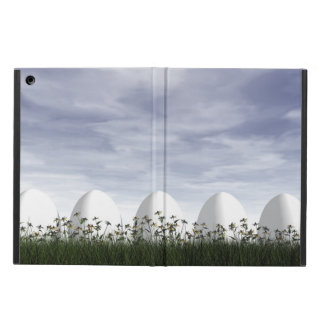 White easter eggs in nature - 3D render Cover For iPad Air