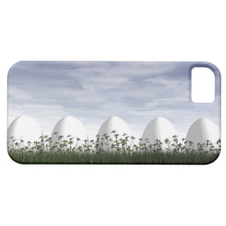 White easter eggs in nature - 3D render iPhone 5 Case