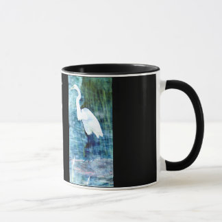 White Egret Done Tai Chi today? Mug