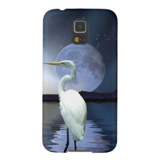 White Egret Fantasy Wildlife Art Device Case
