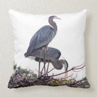 White Egret - Florida Wetlands - Pillow