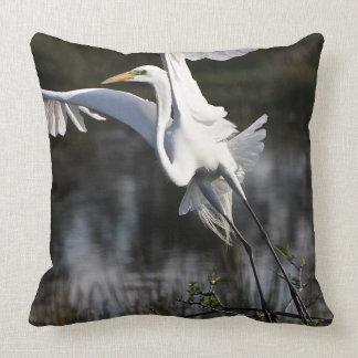 White Egret - Throw Pillow - Florida Birds