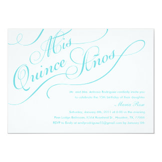 White Elegant Quinceanera Invitations