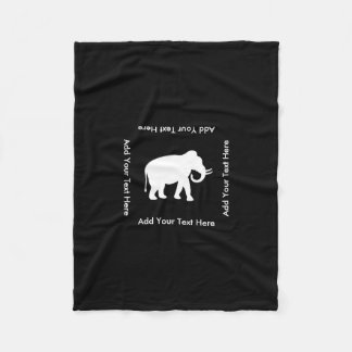 White Elephant Gift Exchange Party Fleece Blanket