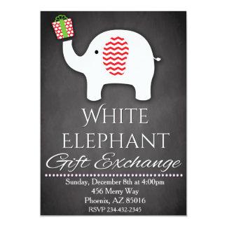 White Elephant Invitation, Gift Exchange Invite