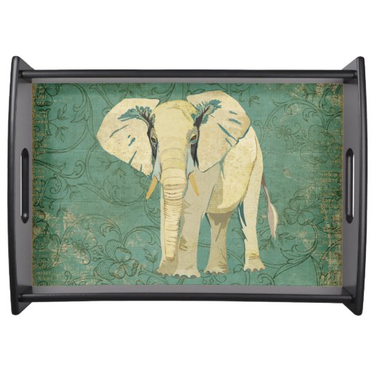 White Elephant Serving Tray