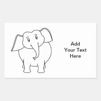 White Elephant. Sticker