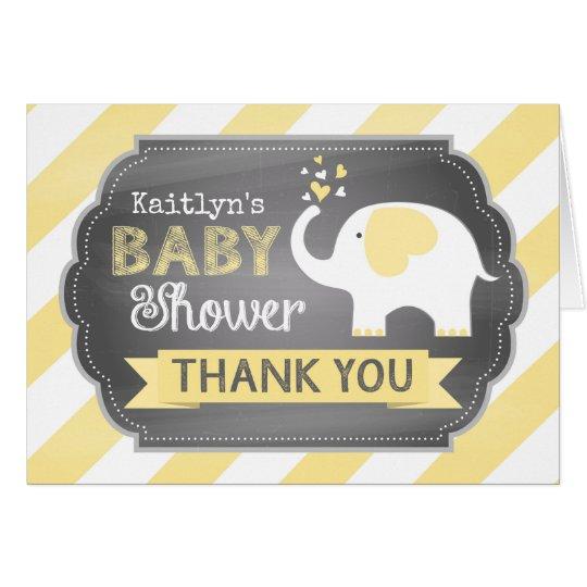 White Elephant Stripe Print Thank You Card