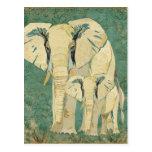 White Elephants Jade Postcard