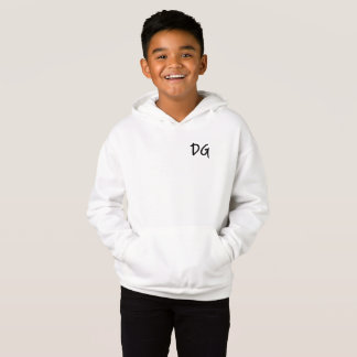 White Embroidered DG Hoodie