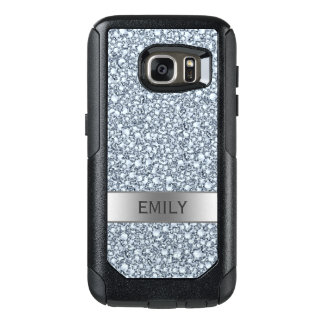 White Encrusted Diamonds Glitter OtterBox Samsung Galaxy S7 Case
