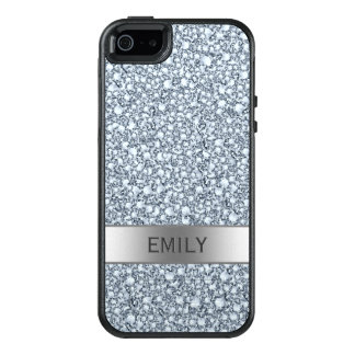 White Encrusted Diamonds Glitter Pattern OtterBox iPhone 5/5s/SE Case