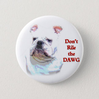 White English Bulldog button