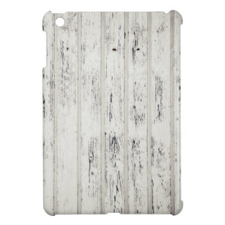 White Eroded Wood Pattern Design Case For The iPad Mini