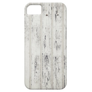 White Eroded Wood Pattern Design iPhone 5 Case