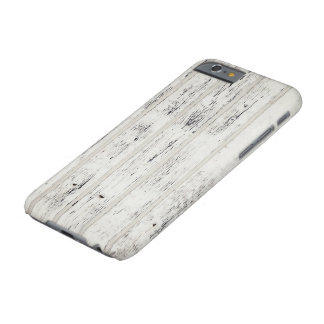 White Eroded Wood Pattern iPhone case