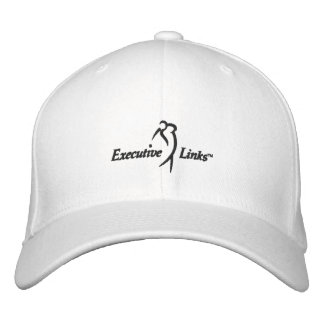White Executive Links Fitted Hat