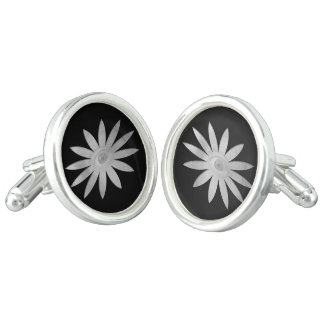 White Eye Flower Cufflinks
