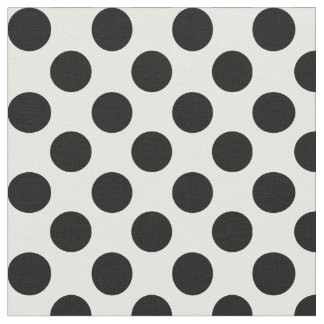 White Fabric With Black Polka Dots