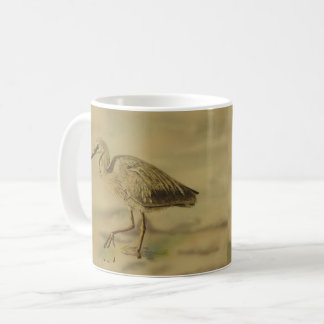 White faced heron coffee mug